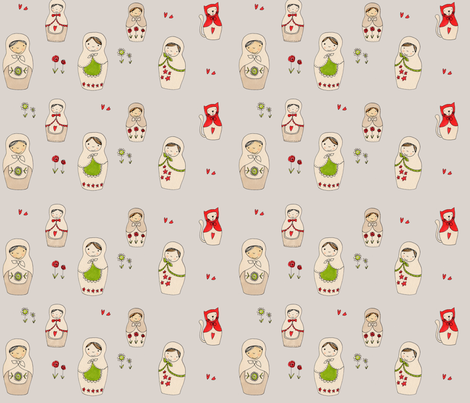 Matroshka_150_dpi fabric by susalabim on Spoonflower - custom fabric
