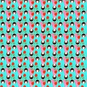 Kokeshi Girls 2 cm tall