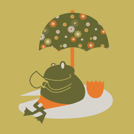 Tea Frog Umbrella fabric by royalforest on Spoonflower - custom fabric