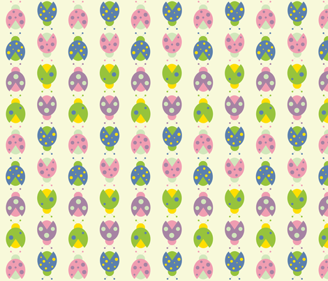 ladybugs fabric by audreyclayton on Spoonflower - custom fabric
