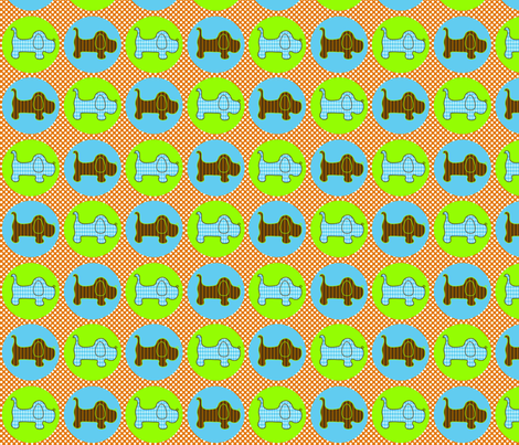 Puppy Dog fabric by petunias on Spoonflower - custom fabric