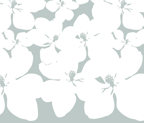 Magnolia Little Gem - Arctic - 2 Yard Panel fabric by kristopherk on Spoonflower - custom fabric