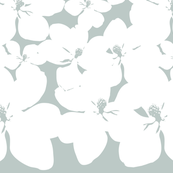 Magnolia Little Gem - Arctic - 2 Yard Panel
