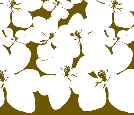 Magnolia Little Gem - Bronze - 2 Yard Panel fabric by kristopherk on Spoonflower - custom fabric