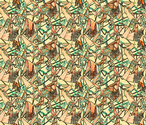 Tangles fabric by helenklebesadel on Spoonflower - custom fabric