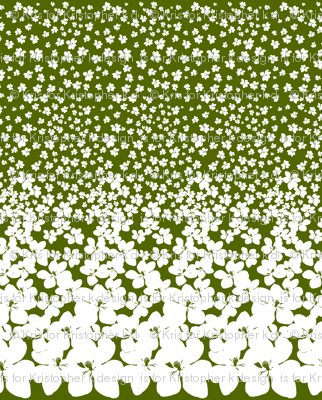 Magnolia Little Gem - Olive Green - 2 Yard Panel