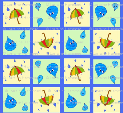 Rainy Day (blue background)