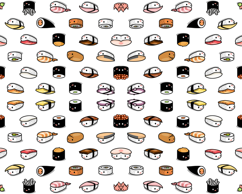 Sushi Pattern Wallpaper