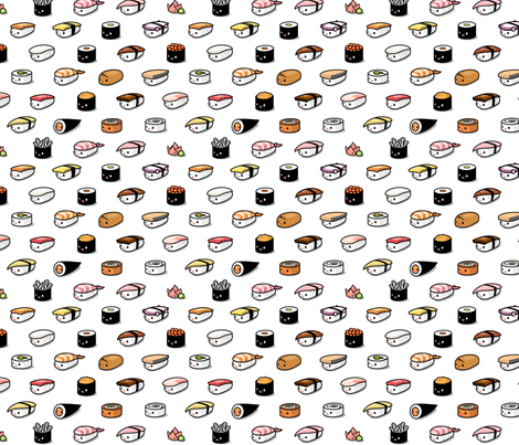 Sushi Lovers fabric by kukubee on Spoonflower - custom fabric