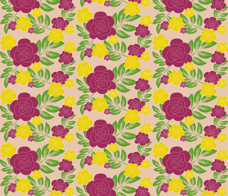 purple rose fabric by rose'n'thorn on Spoonflower - custom fabric