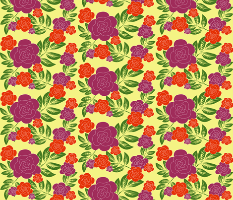 purple rose 2 fabric by rose'n'thorn on Spoonflower - custom fabric