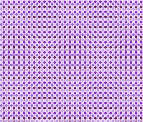 Monsters Blooming - Purple fabric by jesseesuem on Spoonflower - custom fabric