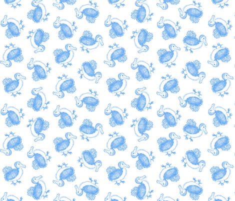 Dodo Toile fabric by tenderlovingclaire on Spoonflower - custom fabric