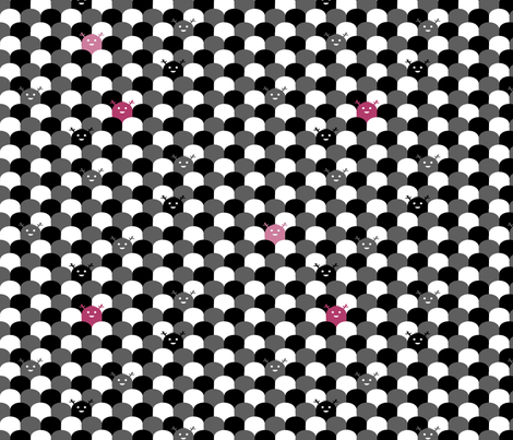 Monster Scallop - Black and Pink fabric by jesseesuem on Spoonflower - custom fabric