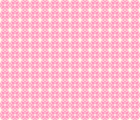 """Spring Rings"" in pink fabric by mytinystar on Spoonflower - custom fabric"