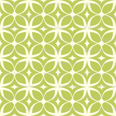 """Spring Rings"" in green"