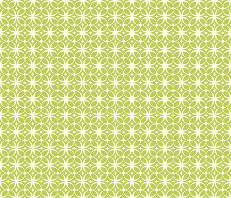 """Spring Rings"" in green fabric by mytinystar on Spoonflower - custom fabric"