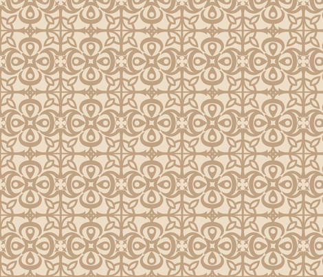 pattern001newbrown fabric by mytinystar on Spoonflower - custom fabric