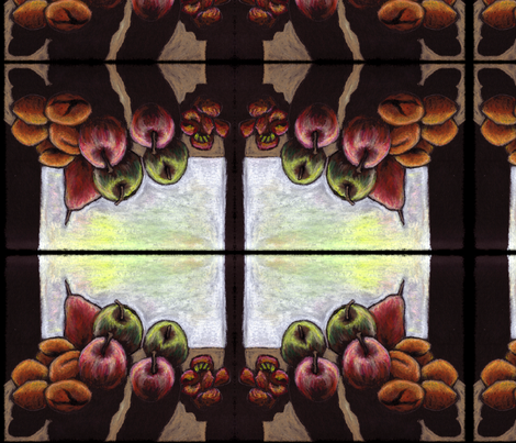 Still Life with Fruit fabric by jenithea on Spoonflower - custom fabric