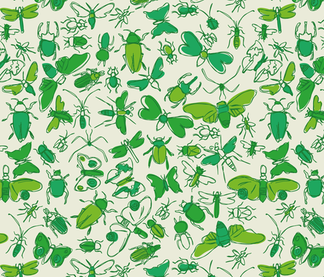 bugs! fabric by circlesandsticks on Spoonflower - custom fabric