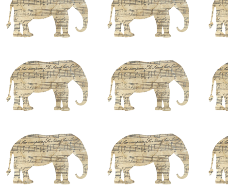 Vintage Elephant fabric by karenharveycox on Spoonflower - custom fabric