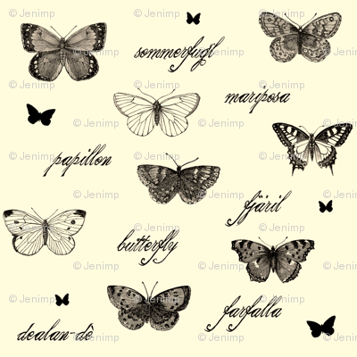 Butterflies are Free Antique