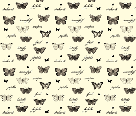 Butterflies are Free Antique fabric by jenimp on Spoonflower - custom fabric