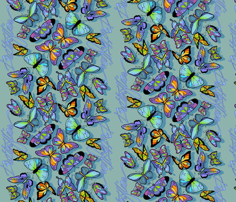 Butterfly Waterfall fabric by leslipepper on Spoonflower - custom fabric