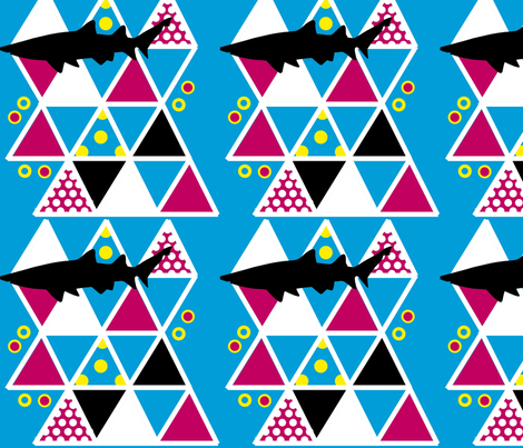 shark! fabric by embaby on Spoonflower - custom fabric