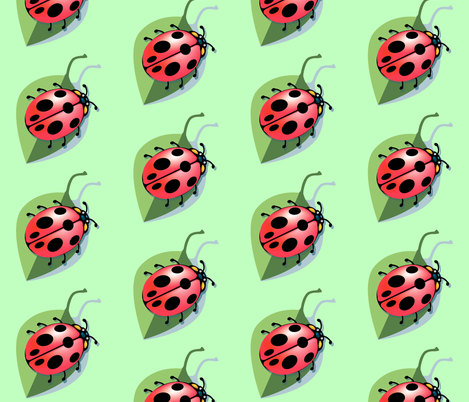 Lady Bug fabric by krwdesigns on Spoonflower - custom fabric