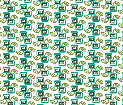 squares_green_wht fabric by thirdhalfstudios on Spoonflower - custom fabric