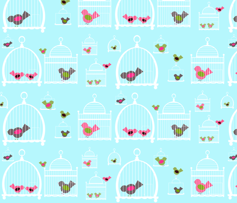 Caged - sky fabric by petunias on Spoonflower - custom fabric