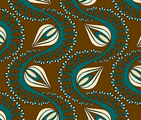 Peacock Chocolate Dreams fabric by renule on Spoonflower - custom fabric