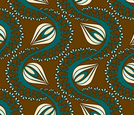 Peacock Chocolate Dreams fabric by renule on Spoonflower - custom fabric