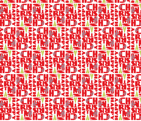 Happy Christmas fabric by heatherdutton on Spoonflower - custom fabric