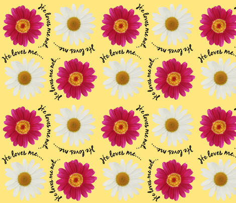 Loves me...Loves me not! fabric by cutiepoops on Spoonflower - custom fabric