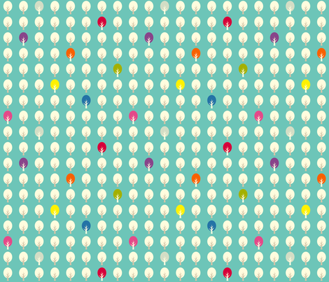 confetti forest in deep blue fabric by amybethunephotography on Spoonflower - custom fabric