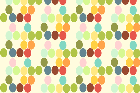 ovals - white background fabric by joybucket on Spoonflower - custom fabric