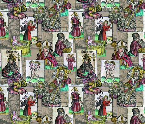 Nuremberg Chronicles  fabric by mouo on Spoonflower - custom fabric