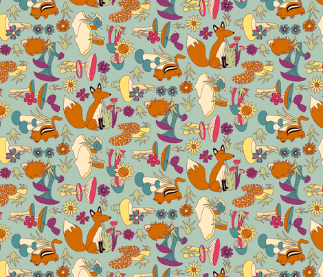 Forest: Cuties! fabric by bronhoffer on Spoonflower - custom fabric