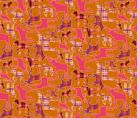 Forest: Moose fabric by bronhoffer on Spoonflower - custom fabric