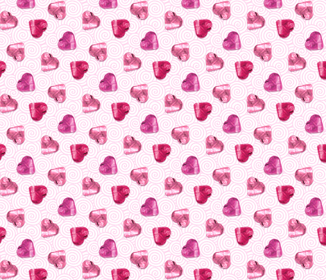 Jello hearts fabric by hannafate on Spoonflower - custom fabric