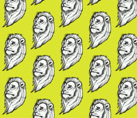 The Proud Lion fabric by taraput on Spoonflower - custom fabric