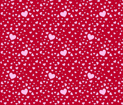 packedhearts fabric by shirlene on Spoonflower - custom fabric