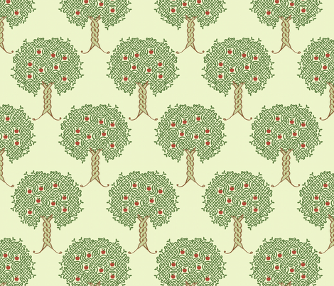 Orchard repeat fabric by jasmo on Spoonflower - custom fabric