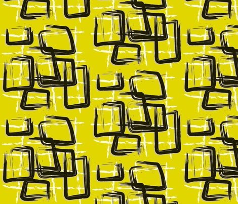 Black Squares  fabric by backyarddesigns on Spoonflower - custom fabric