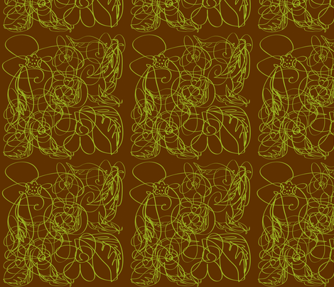 flower lines fabric by backyarddesigns on Spoonflower - custom fabric