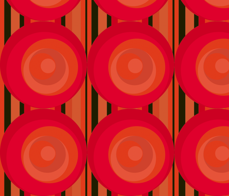 Redcircles fabric by backyarddesigns on Spoonflower - custom fabric