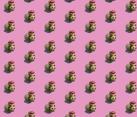 Cupcake Hedgehog fabric by golders on Spoonflower - custom fabric
