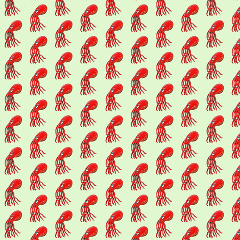 Miss Octo fabric by taraput on Spoonflower - custom fabric